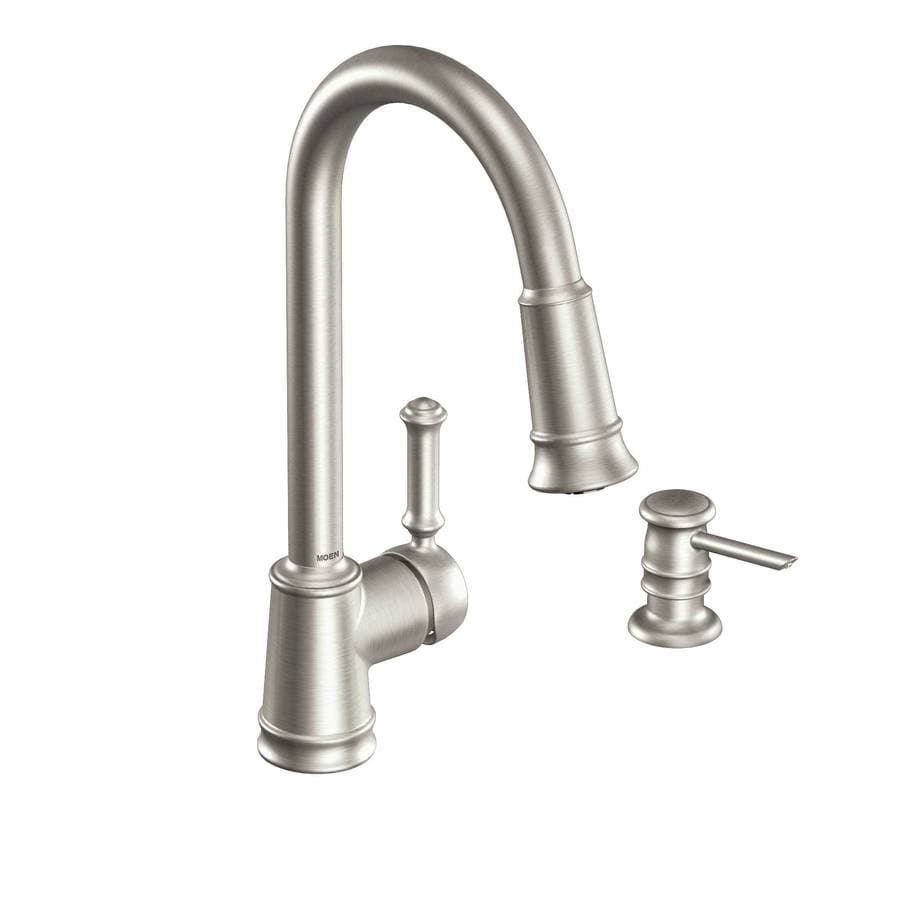 Moen Lindley Spot Resist Stainless 1-Handle Pull-Down