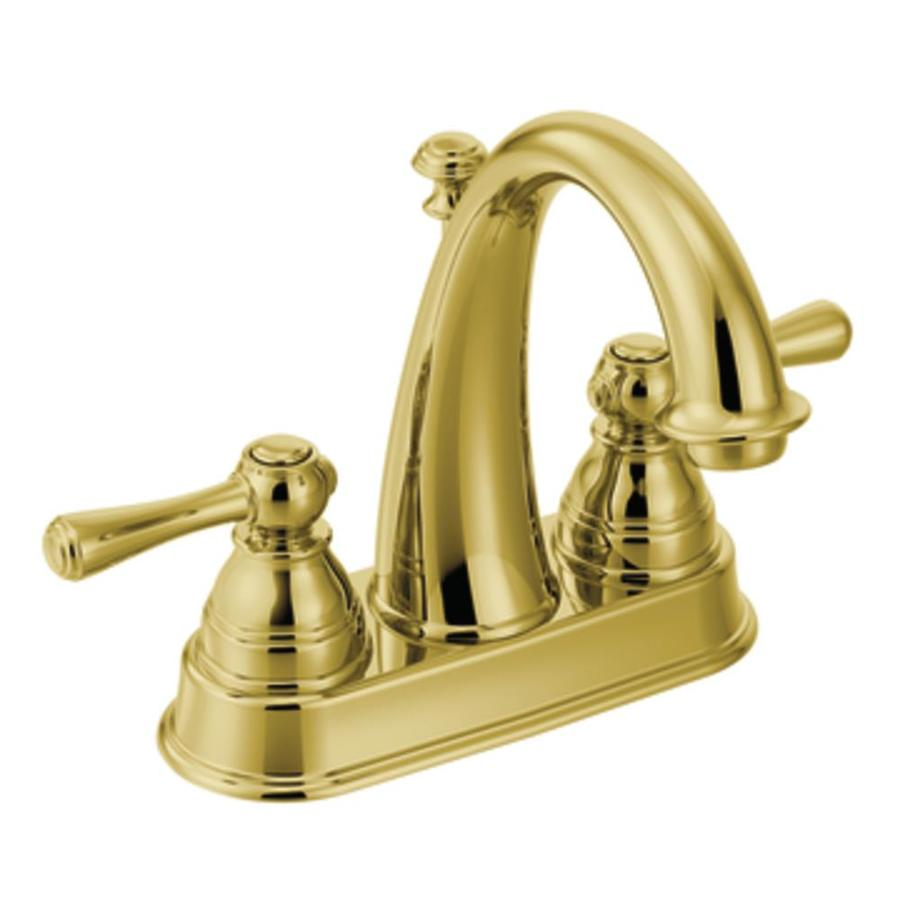 Moen Kingsley Polished brass 2Handle 4in Centerset