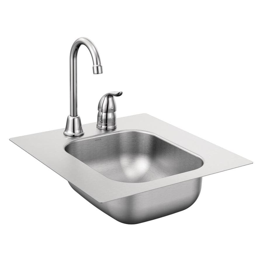 lowes stainless steel kitchen sinks sage green cabinets shop moen 2000 series drop ...