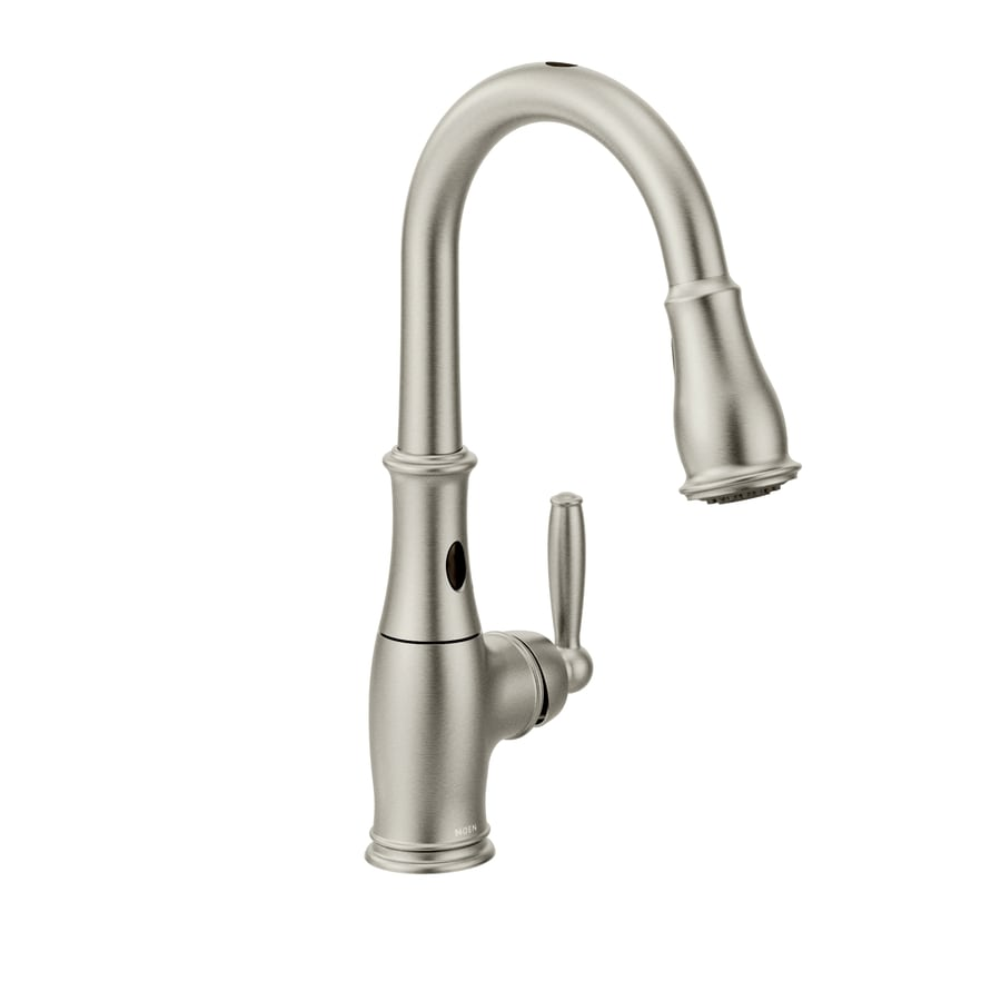 delta oil rubbed bronze kitchen faucet remodel hawaii shop moen brantford with motionsense spot resist stainless ...