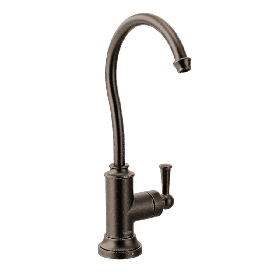 high flow rate kitchen faucets flush mount lighting shop moen sip oil rubbed bronze 1-handle deck ...