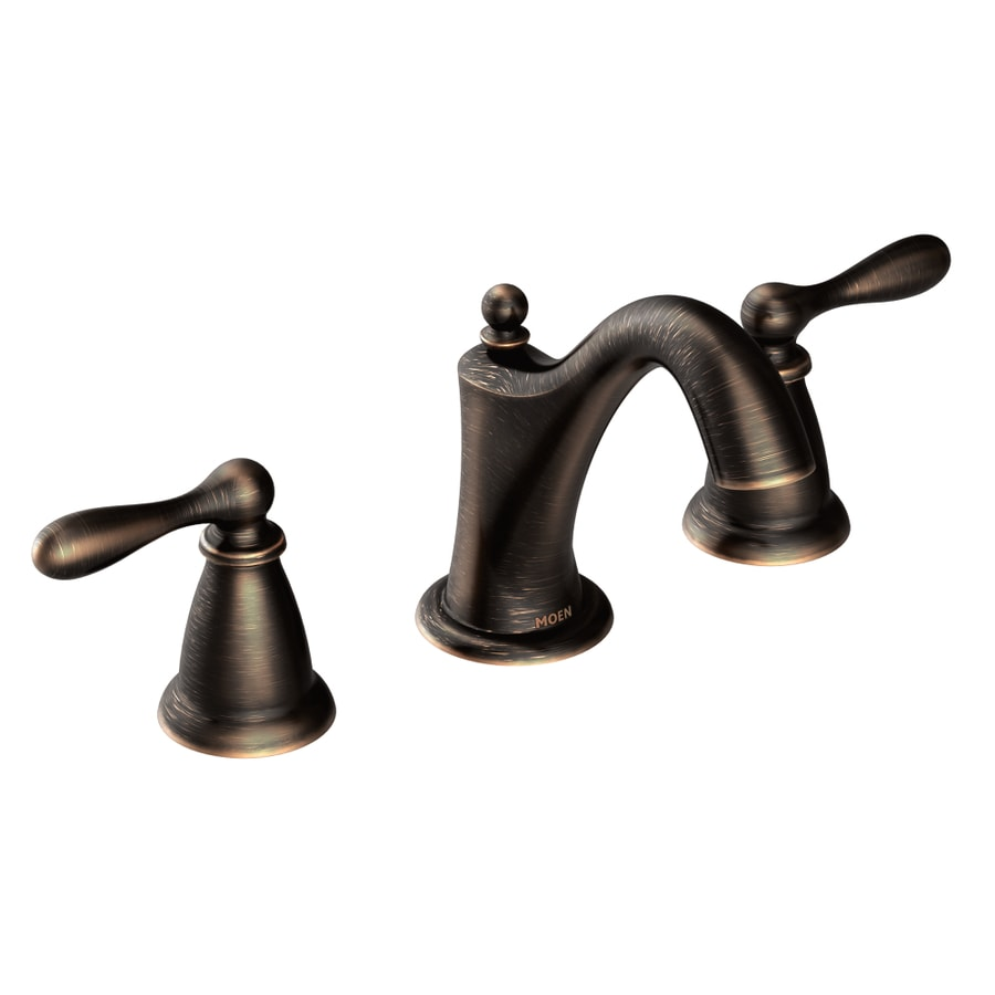 Moen Caldwell Mediterranean Bronze 2Handle Widespread WaterSense Bathroom Sink Faucet with