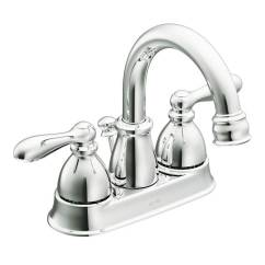 Moen Caldwell Kitchen Faucet True Equipment Shop Chrome 2-handle 4-in Centerset ...