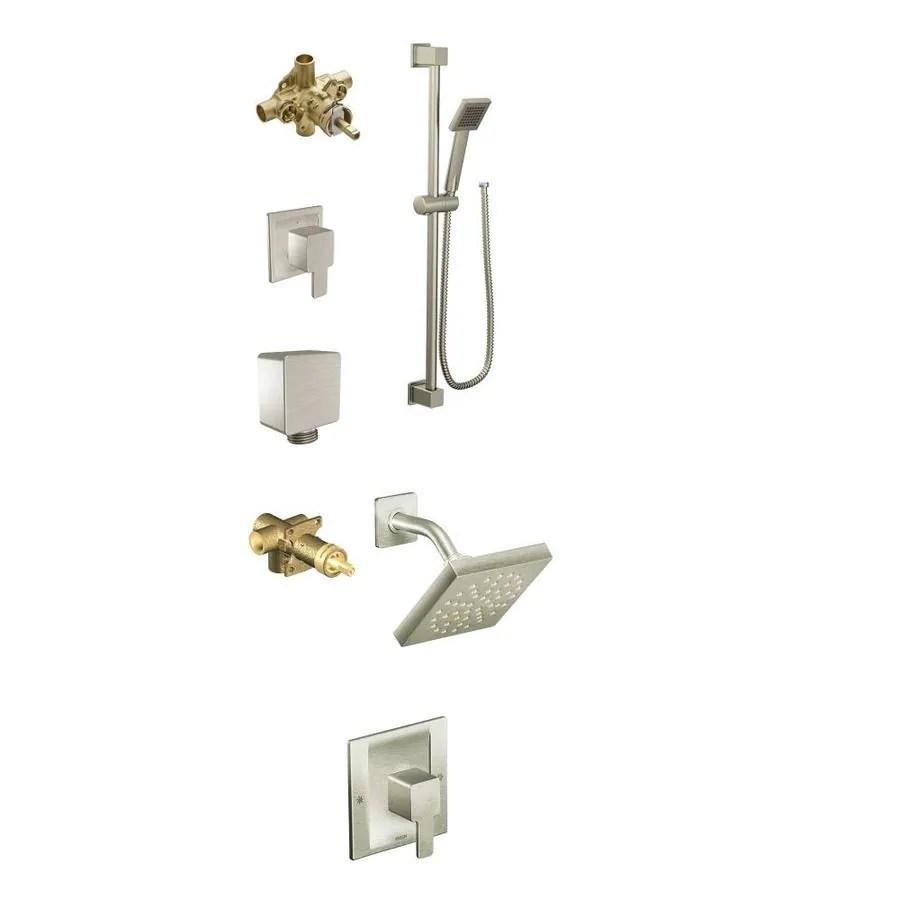 moen kitchen faucet installation skechers shoes shop 90 degree brushed nickel-spray shower system at ...