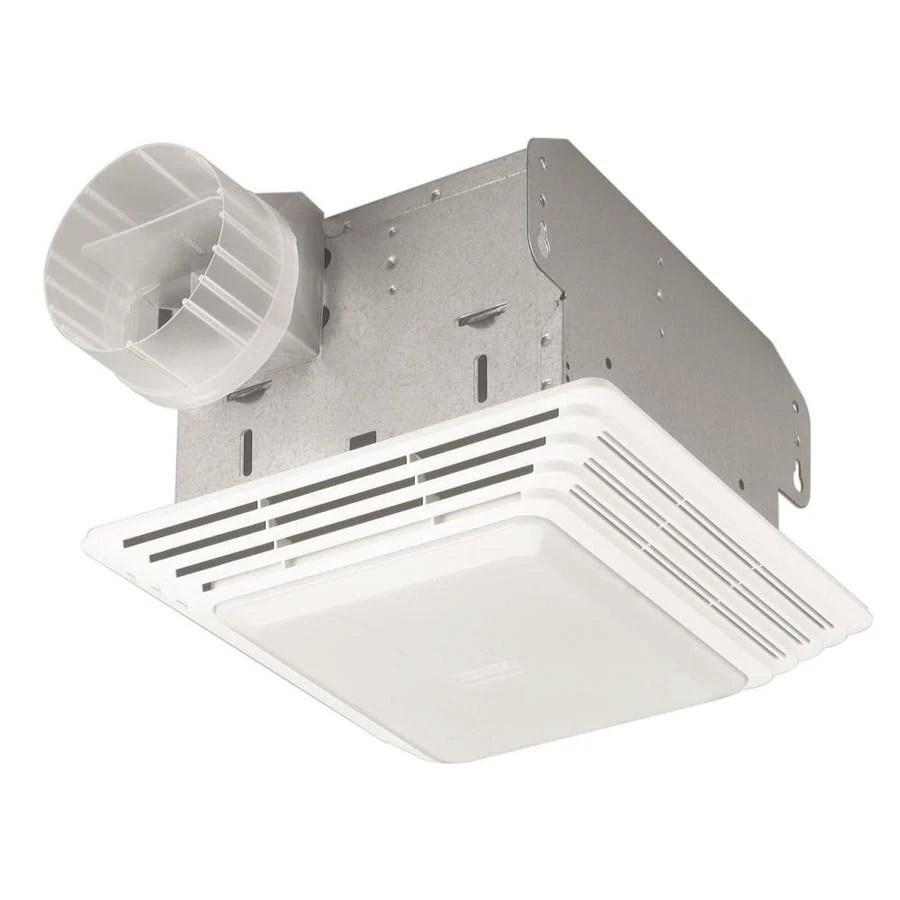 broan 2 5 sone 50 cfm white bathroom fan