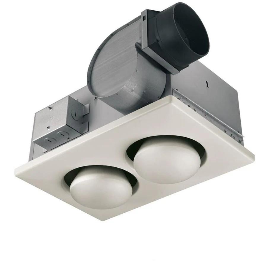 Broan Fan with Infrared Bulbs 4Sone 70CFM White Bathroom Fan at Lowescom