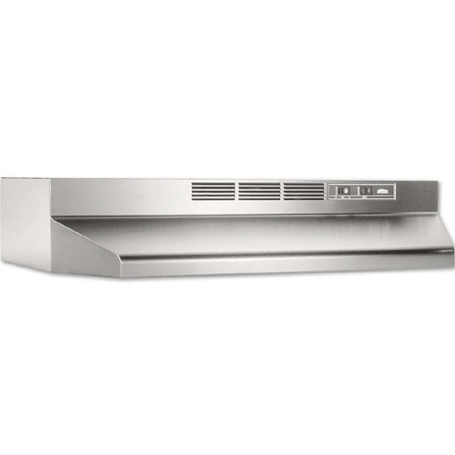 lowes kitchen hood breakfast bar undercabinet range hoods at com broan 30 in ductless stainless steel black common