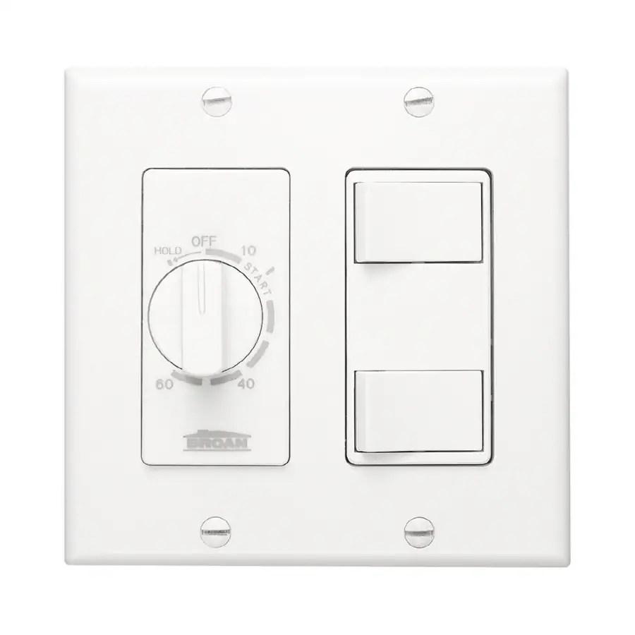 Broan Decorative Wall Controls 20-Amp White Light Switch