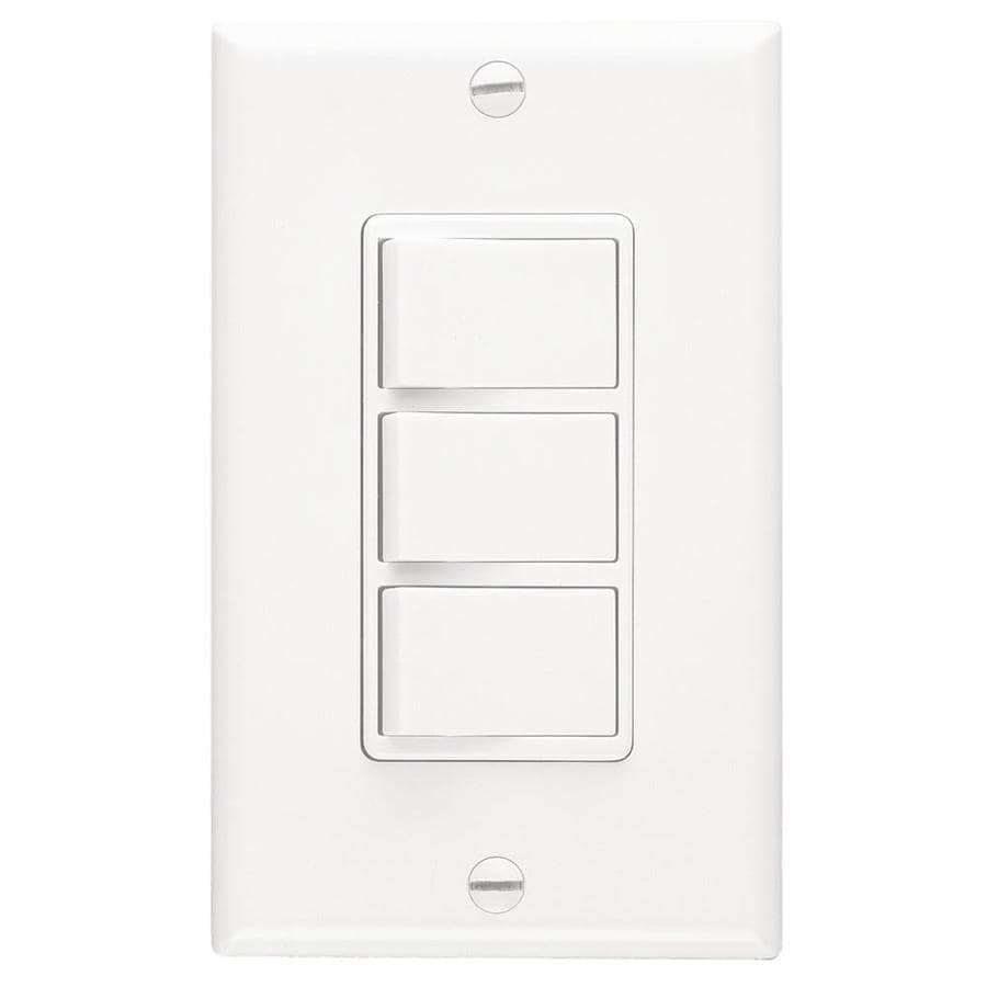 hight resolution of broan decorative wall controls 20 amp white rocker residential light switch with wall plate