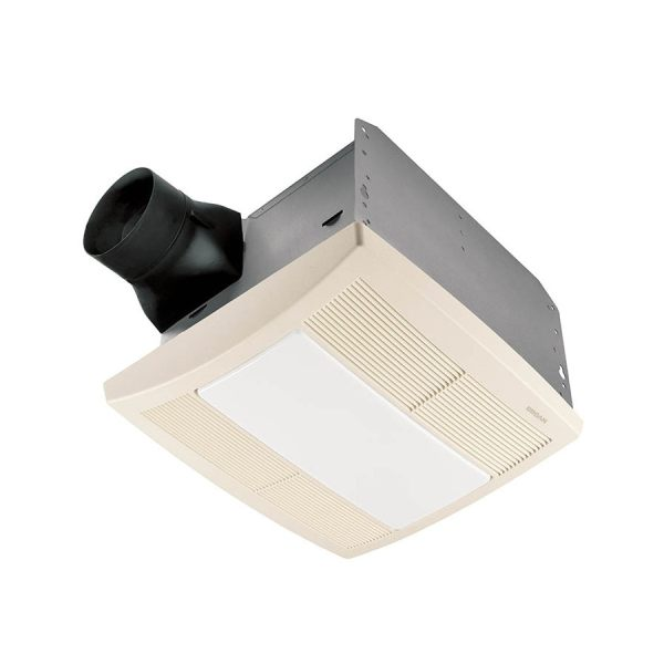 Broan 0.8-sone 80-cfm White Bathroom Fan With Light