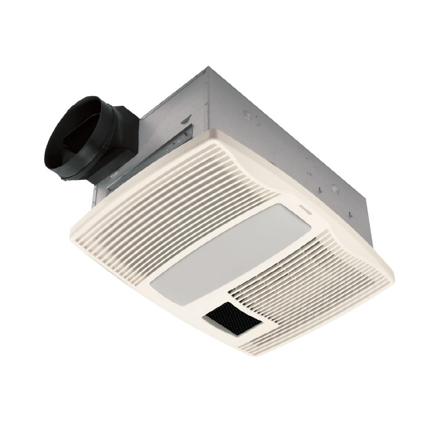 hight resolution of broan 0 9 sone 110 cfm white bathroom fan with heater