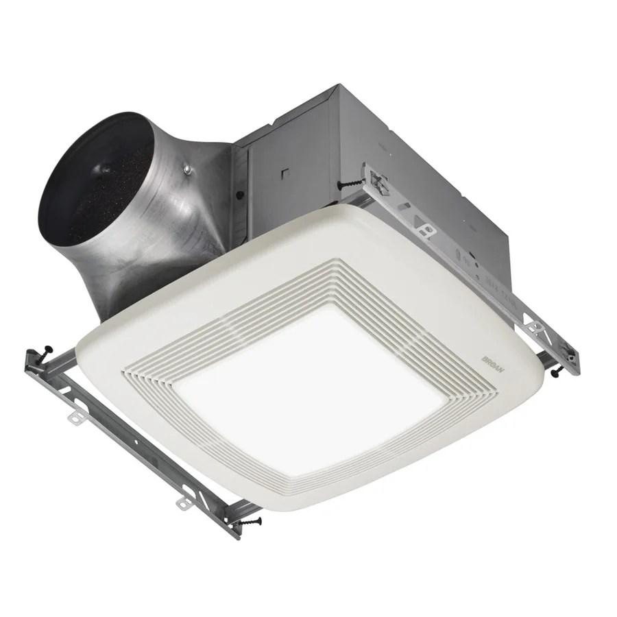 Shop Broan 03sone 110cfm White Bathroom Fan With Light