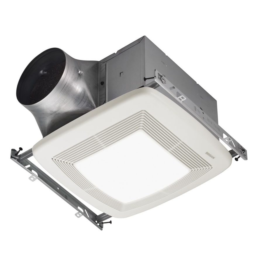 Shop Broan 03Sone 110CFM White Bathroom Fan with Light ENERGY STAR at Lowescom