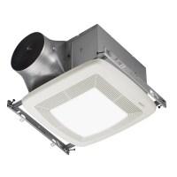 Shop Broan 0.3-Sone 110-CFM White Bathroom Fan with Light ...