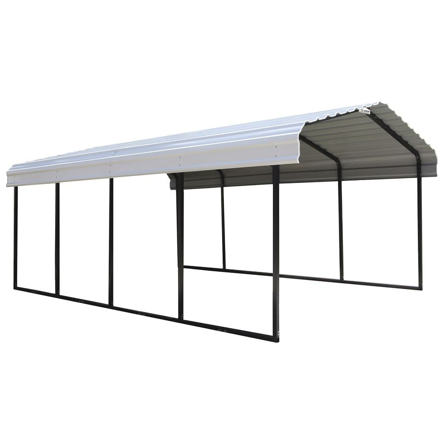 Arrow 12 Ft X 20 Ft Eggshell Metal Carport In The Carports