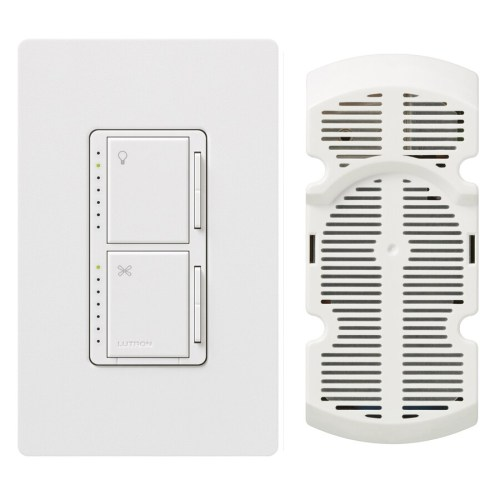 small resolution of lutron maestro 300 watt single pole white touch indoor combination dimmer and fan control
