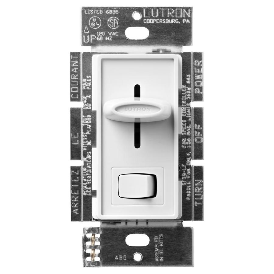 hight resolution of lutron 1 5 amp single pole fan light control white