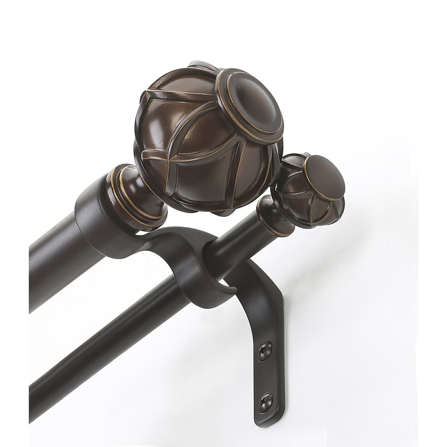 Shop Allen Roth 72 In To 144 In Darjeeling Double Curtain Rod At