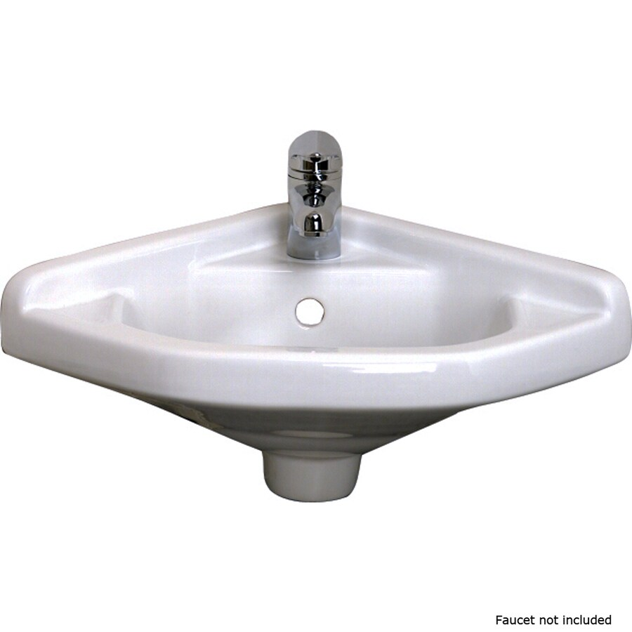 wall mount kitchen faucet lowes how to design a remodel shop barclay white wall-mount oval bathroom sink with ...