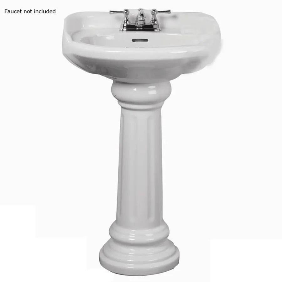 Glacier White Bay Sink Pedestal