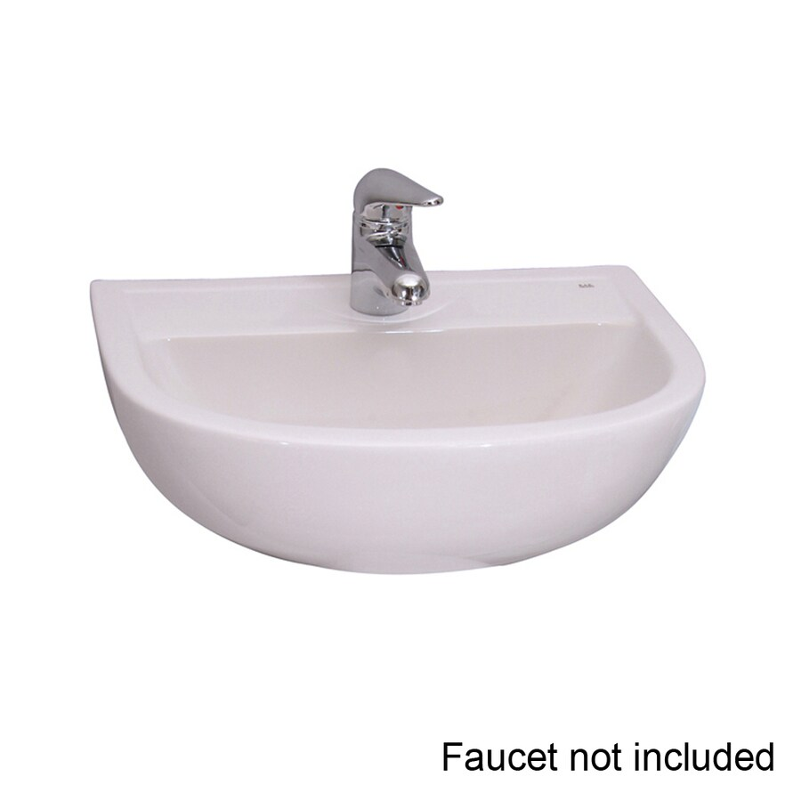 Shop Barclay Compact White WallMount Round Bathroom Sink