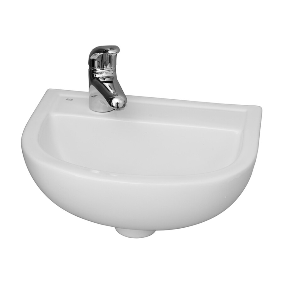 Barclay Compact White WallMount Round Bathroom Sink at