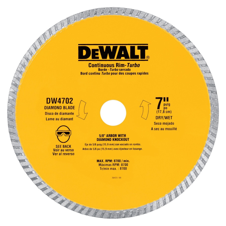 dewalt 7 in wet or dry continuous diamond tile saw blade