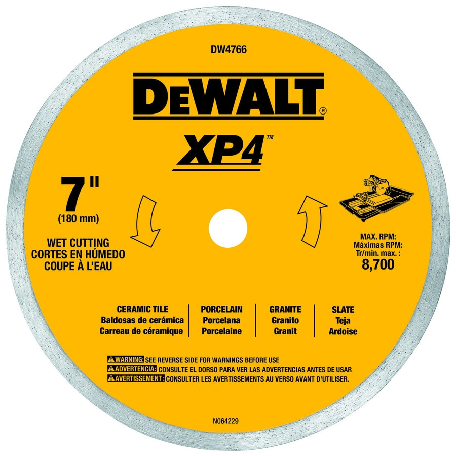 dewalt 7 in wet continuous diamond tile saw blade