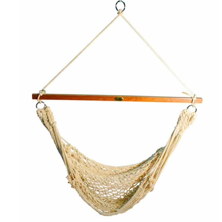 hanging chair stand white metal kitchen chairs canada algoma rope hammock at lowes com