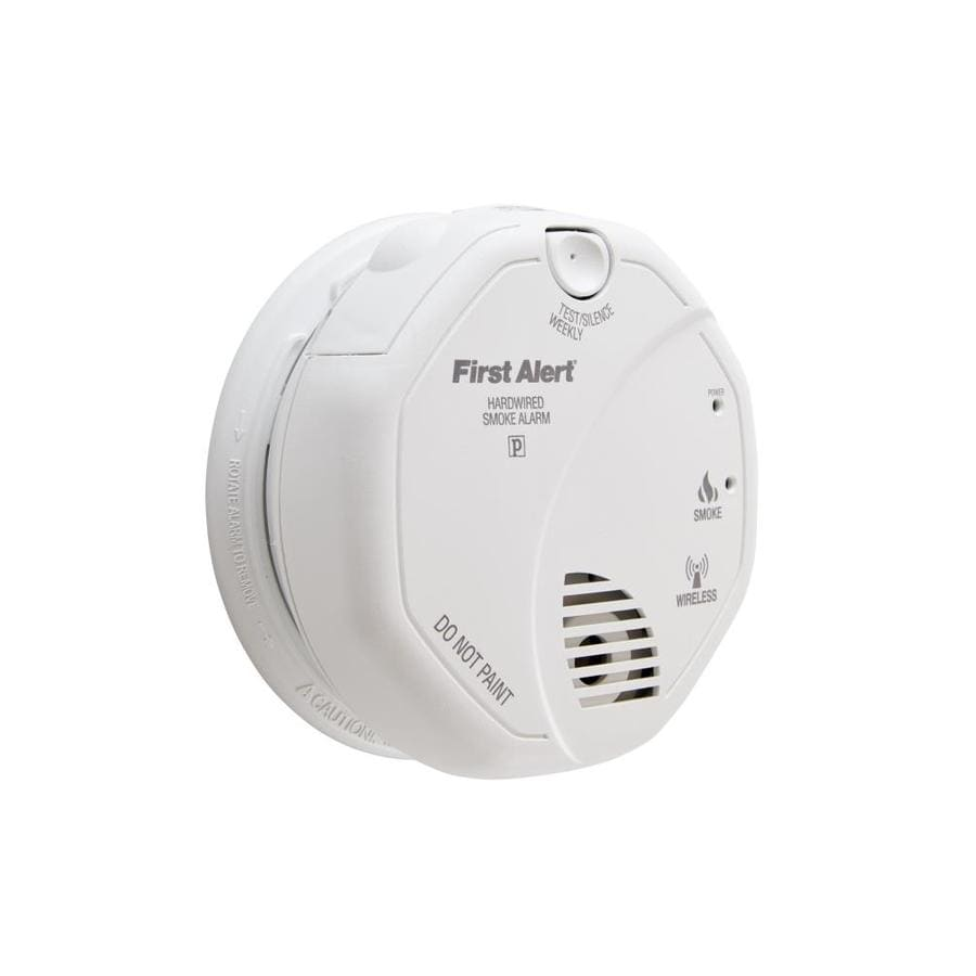 medium resolution of first alert wireless interconnect ac hardwired 120 volt photoelectric sensor smoke detector