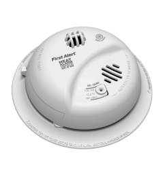 first alert ac hardwired 120 volt heat detection smoke detector [ 900 x 900 Pixel ]