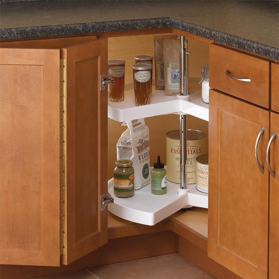 Knape  Vogt 2Tier Plastic PieCut Cabinet Lazy Susan at