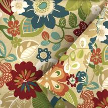 Garden Treasures 54-in Bloomery Floral Outdoor Fabric