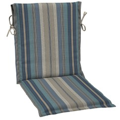 High Back Lawn Chair Cushions Best Massage For Neck And Shoulders Shop Allen + Roth 1-piece Stripe Blue Standard Patio Cushion At Lowes.com