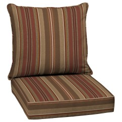 Lowes Outdoor Chair Cushions Reviews Of High Chairs Allen Roth Chili Glenlee Stripe Cushion For Deep Seat At