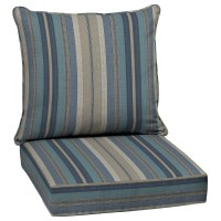 Shop allen + roth 2-Piece Deep Seat Patio Chair Cushion at ...