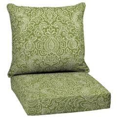 Wicker Porch Chair Cushions Covers Plastic Garden Treasures 2 Piece Deep Seat Patio Cushion At Lowes Com