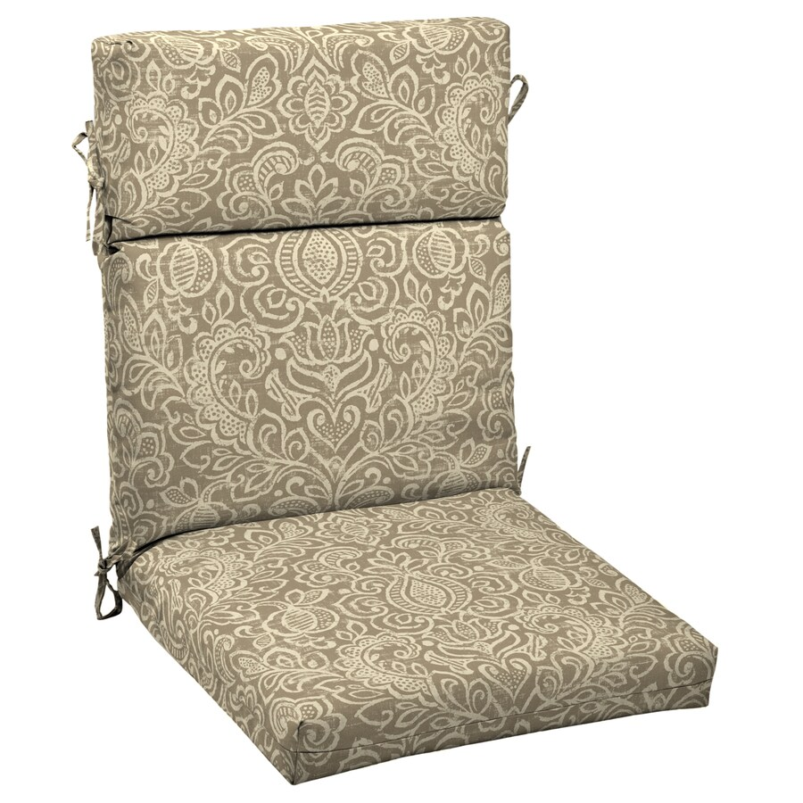 lowes outdoor chair cushions frank gehry garden treasures neutral stencil floral standard patio cushion