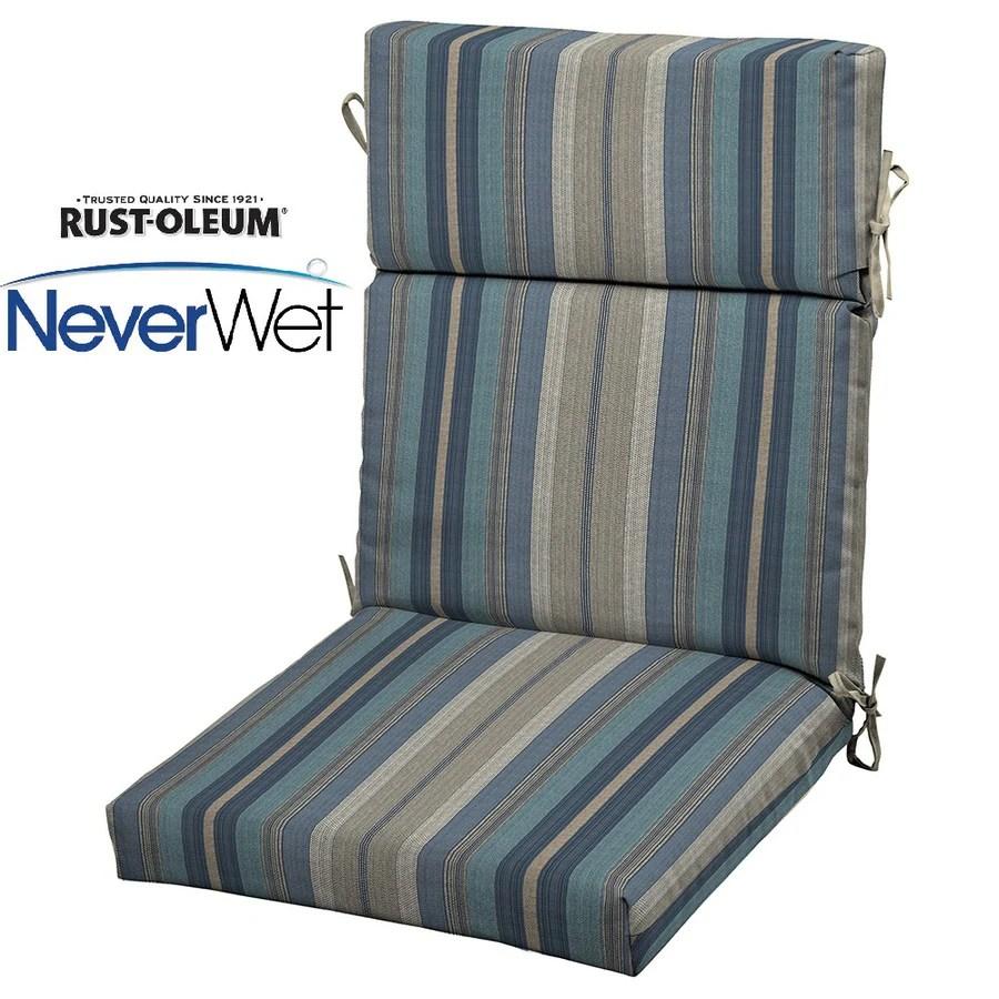 patio high back chair cushions garden swing john lewis allen roth stripe blue cushion for