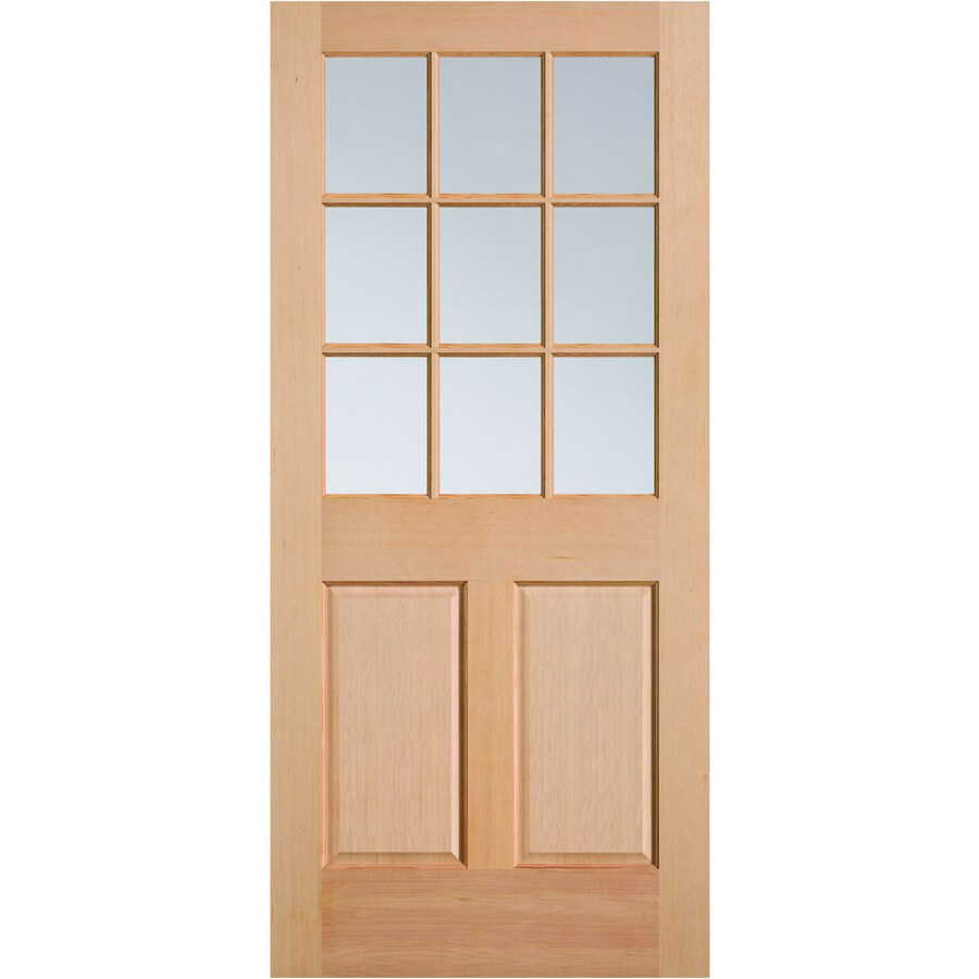 kitchen entry doors pantry stand alone masonite half lite clear glass universal reversible wood slab door solid core common 32 in x 80 actual