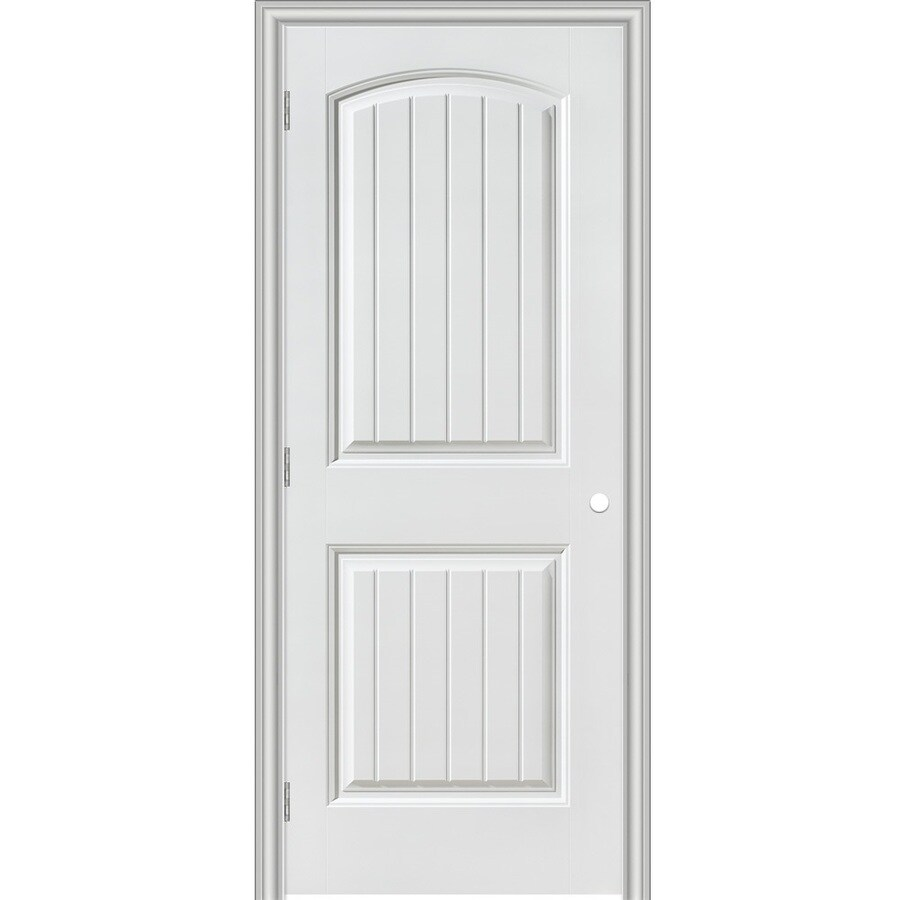Masonite Primed 2 Panel Round Top Plank Hollow Core Molded