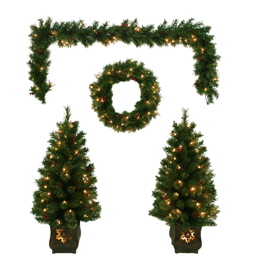lowes pre lit artificial christmas trees - Artificial Christmas Trees Lowes