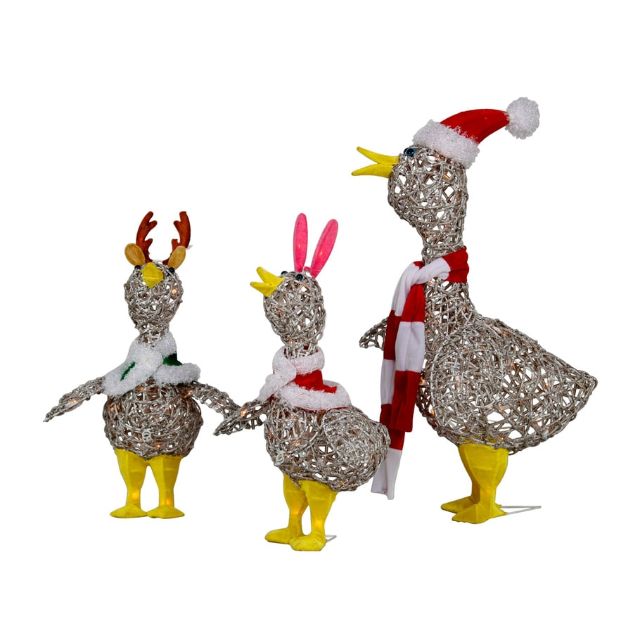 Holiday Living 2 33 Ft Freestanding Duck Sculpture With