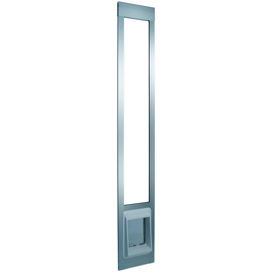 ideal pet products aluminum pet patio e cat flap small silver aluminum sliding pet door