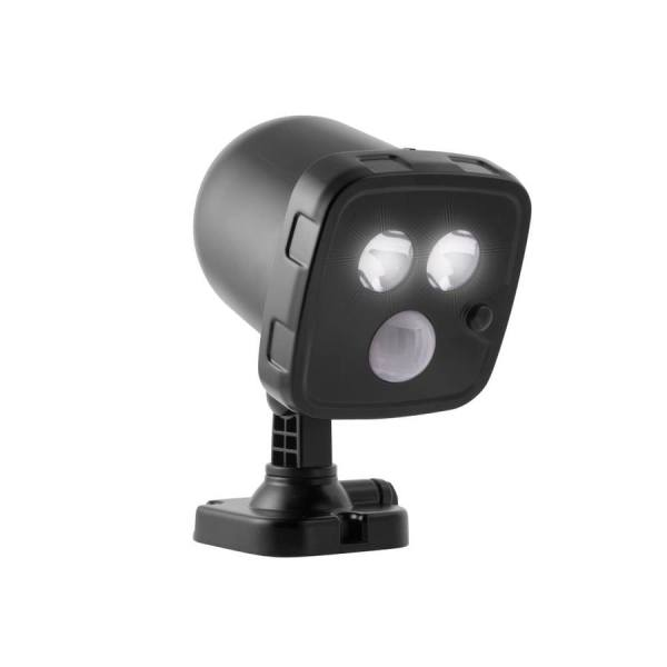 Energizer 5.7-watt 30 Equivalent Black Battery-operated Led Spot Light With Motion