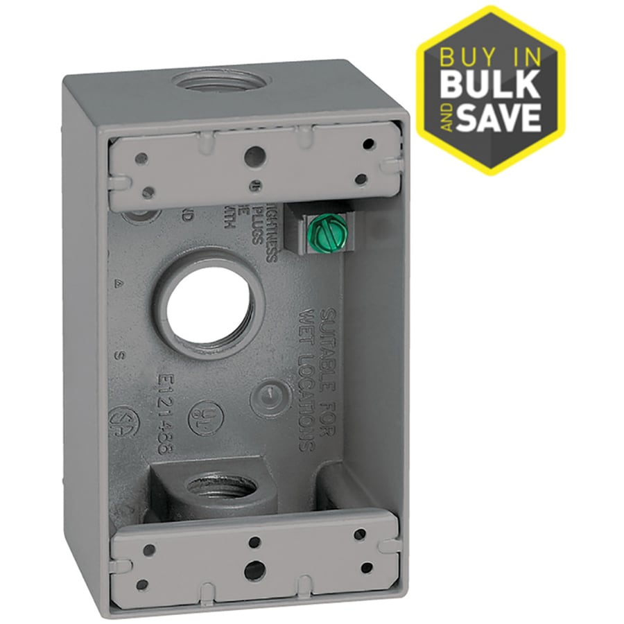 hight resolution of sigma electric 1 gang weatherproof box 1 gang gray metal weatherproof exterior new work