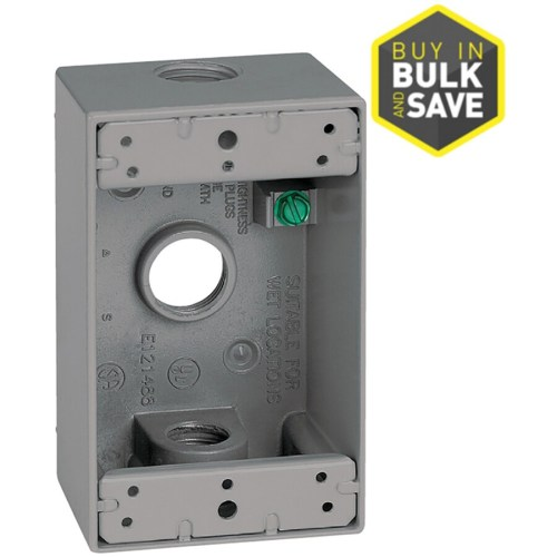 small resolution of sigma electric 1 gang weatherproof box 1 gang gray metal weatherproof exterior new work
