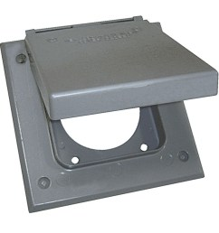 sigma electric 2 gang square metal weatherproof electrical box cover [ 900 x 900 Pixel ]