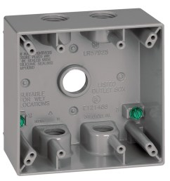 sigma electric 2 gang weatherproof box 2 gang gray metal weatherproof exterior new work standard square exterior electrical box [ 900 x 900 Pixel ]