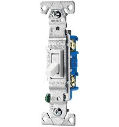 eaton 15 amp single pole white toggle residential light switch [ 900 x 900 Pixel ]